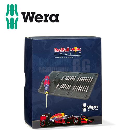 Комплект ръкохватка с битове Wera Red Bull Racing /17 части /