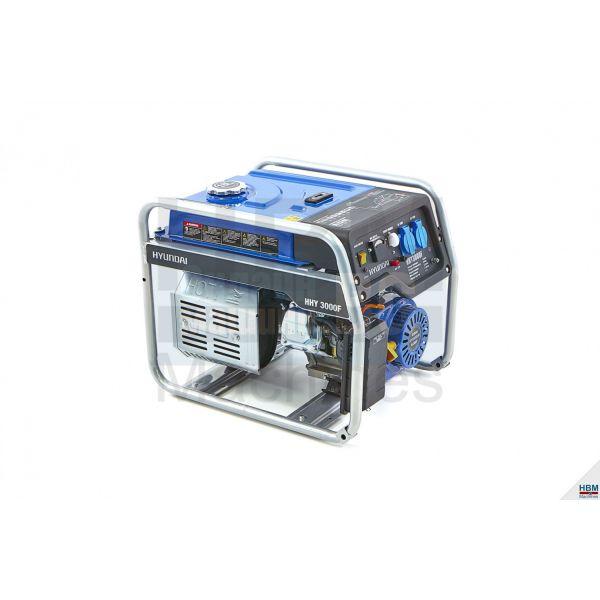 Бензинов генератор Hyundai HHY3000F / 2.8 kW, 15 л. резервоар /