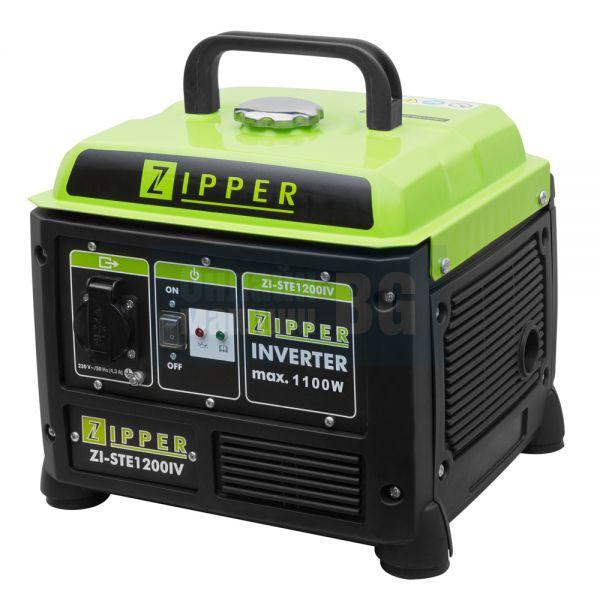 Инверторен монофазен генератор ZIPPER ZI-STE1200IV / 1100 W/