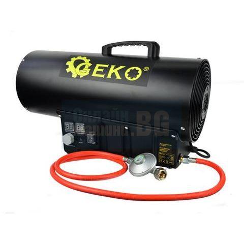 Индустриален газов калорифер с термостат и регулатор  GEKO G80415 / 65 kW, 1500m³/h, LPG /
