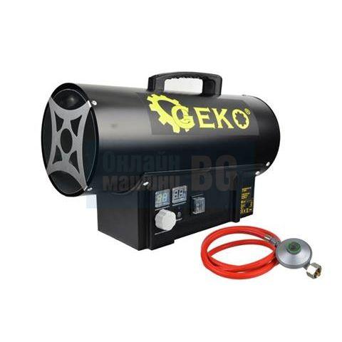 Индустриален газов калорифер с термостат и регулатор  GEKO G80411 / 20 kW,  500 m³/h, LPG /