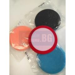 Полираща гъба Flex, оранжева, гладка / Ø 150х25 мм, 1 брой/