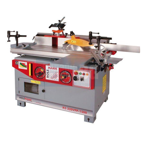 Комбинирана 5 операционна машина за дървообработване Holzmann K5 320 VFP 1500 (400V,  4x 2200W,  извод за аспирация)