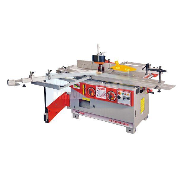 Комбинирана 5 операционна машина за дървообработване Holzmann  K5320VFP2000 (400V, (4x) 2200W, извод за аспирация)