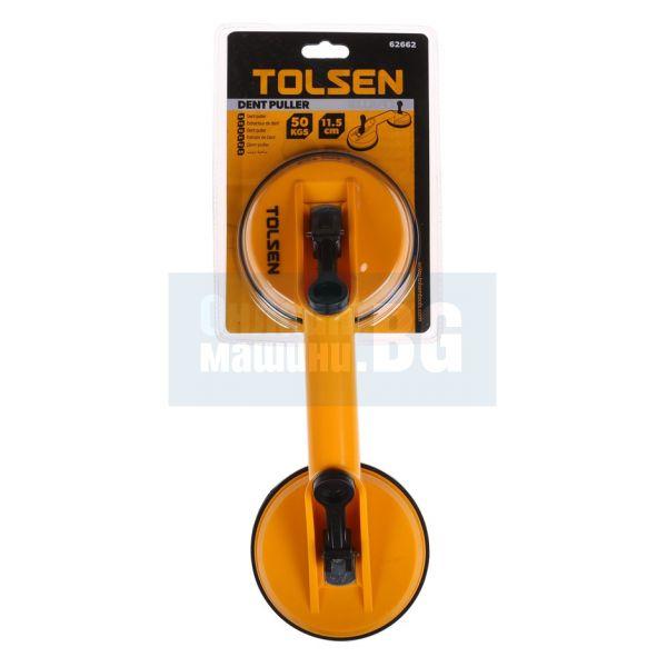 Лапа за стъкло двойна Tolsen / 50 kgs   115 mm /
