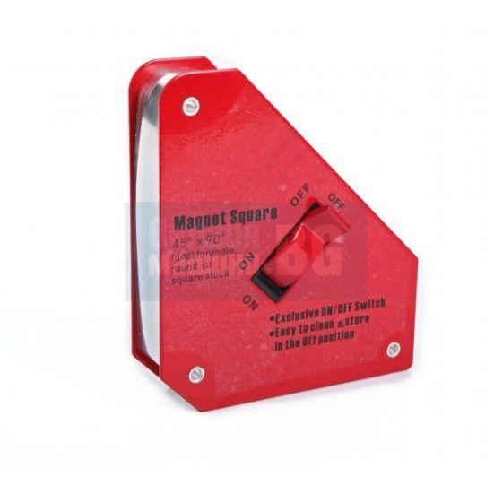 Магнит за заваряване с превключвател ON/OFF HBM 02622 /130 x 150 mm, 45° и 90°/