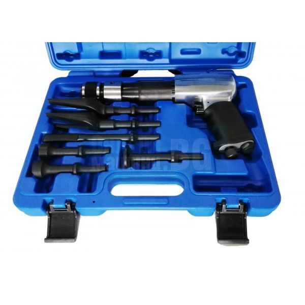 Професионален пневматичен чук с комплект инструменти - 7 части, 846-5033