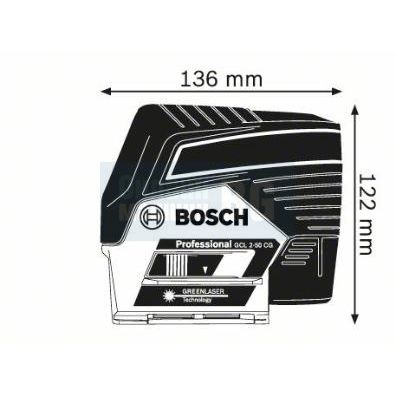 Линеен лазер Bosch GCL2-50CG SOLO ProMix 12V /L-Boxx, без батерия и зарядно устройство/