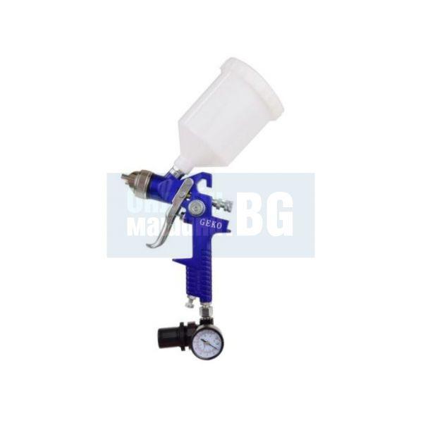 Бояджийски пистолет HVLP + редуктор GEKO G01182 /1.4 mm, 3 - 4 bar, 600 ml /