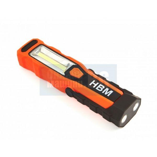 Професионален акумулаторен LED фенер HBM 8338 /280 Lumen/, USB зарядно