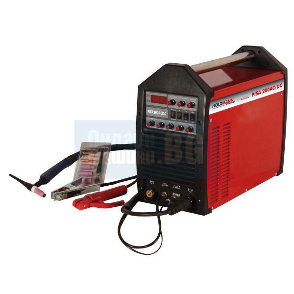 Комбиниран инверторен електрожен ACDC  Пулс TIG / ММА заваряване / с аргон,      5-200 А,    в куфар /