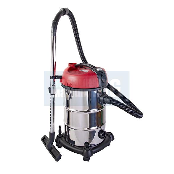 Прахосмукачка RAIDER RDP-WC04 за сухо и мокро почистване със самопочистващ филтър / 1300 W, 30 L /