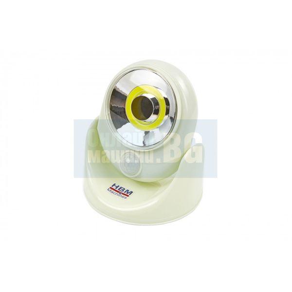 Лед лампа със сензор на батерии HBM 9223 / 3 W,    220 lumen/