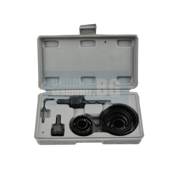 Боркорони за дърво комплект GEKO G30001 19-64 мм /11 части/