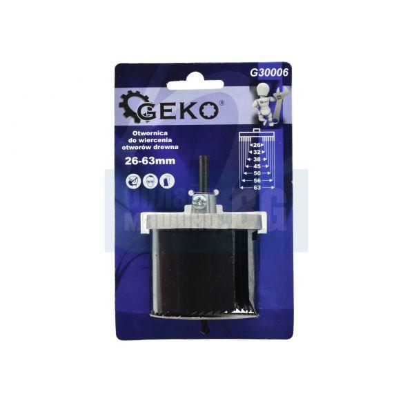 Боркорони за дърво комплект GEKO G30006 26 - 63 мм /7 части/