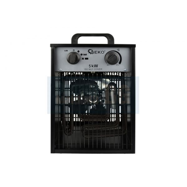 Електрически трифазен калорифер Geko G80402 /5 kW, 530 м3/ ч/ с термостат