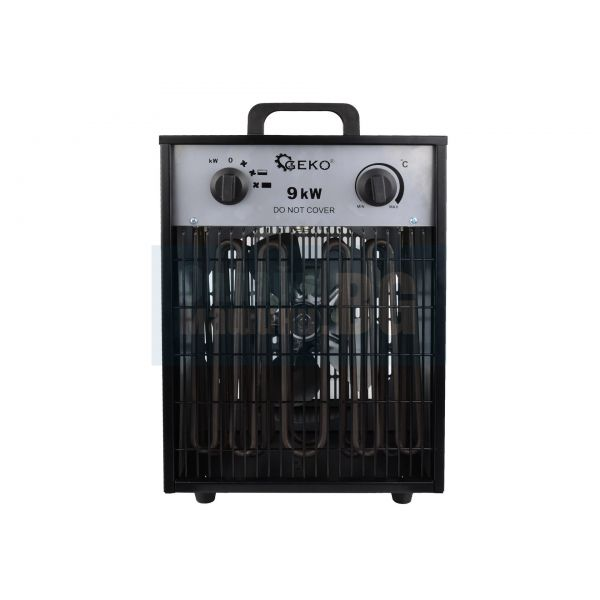 Електрически трифазен калорифер Geko G80404 /9 kW, 787 м3/ ч/ с термостат