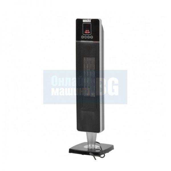 Електрически отоплител с керамичен нагревател HECHT 3610 /1.2 - 2.0 kW, 230V / 50 Hz/ с термостат и дистанционно управление