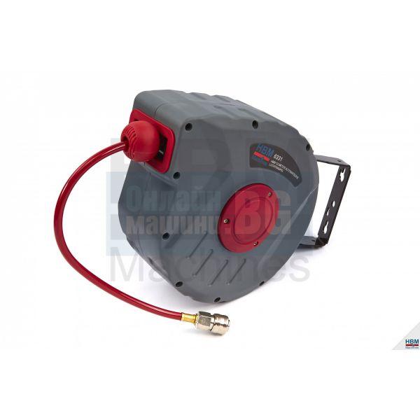 """Автоматична макара за маркуч за въздух HBM 6331 / 12 м, 1/4"""" /"""