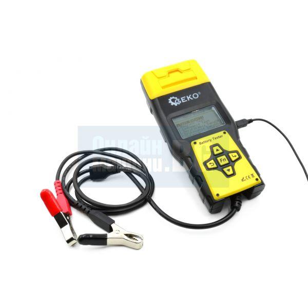 Тестер за акумулатор, дигитален с вграден принтер Geko BA1000 / 12 V /