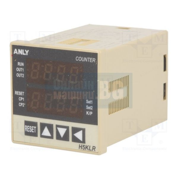 Реле за време OMS, A-H5CLR-8G, 0.001s~9999h, 12~48VAC/VDC, SPD
