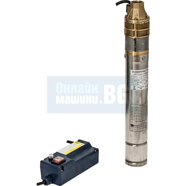 Сондажна водна помпа Hydrostab 3SKM 100 0.75 kW, 75 мм., 58 м, 2,4 m³/h - 1 ''