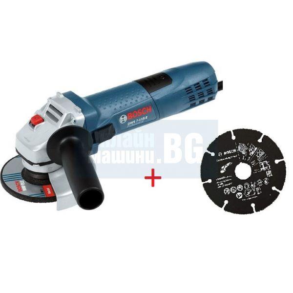 Ъглошлайф Bosch GWS 7-115 E, 720 W, 115 мм
