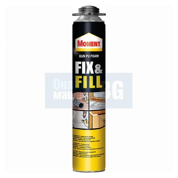 Полиуретанова пистолетна пяна Henkel  Moment Fix & Fill, 700 мл