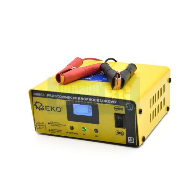 Зарядно стартерно устройство Geko G80036, 0-15 А, 6/12 V, 6-200 Ah