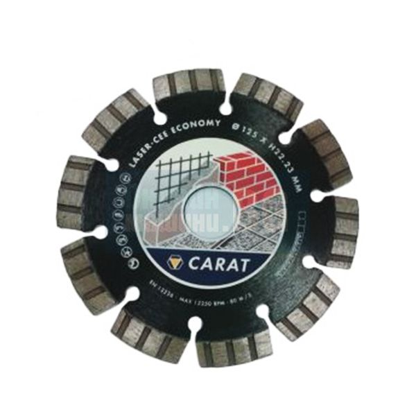 Диамантен диск за сухо рязане Carat Universal Standard CEE, 125x22.23 мм, 10 мм