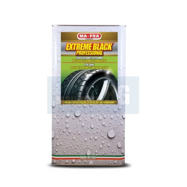 Вакса за гуми и пластмасови повърхности MA-FRA Fast & Black, 4.5 л