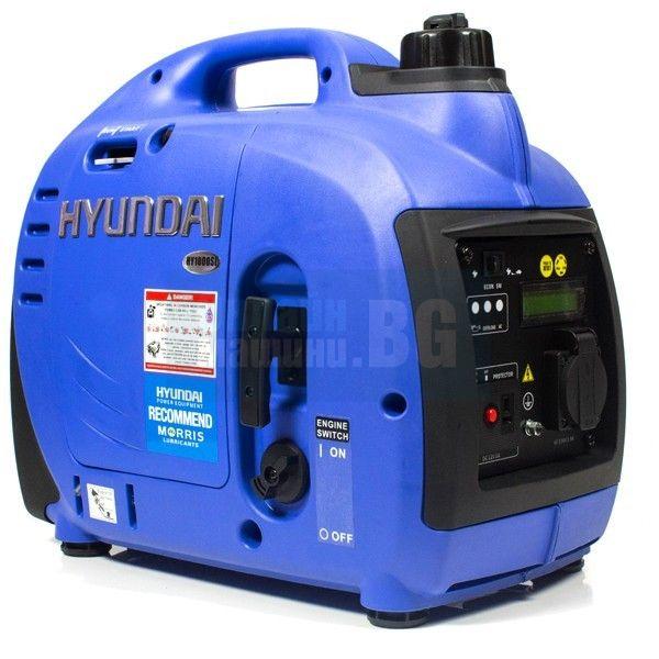 Инверторен мотогенератор Hyundai HY 1000SI  /900W, HYUNDAI, 1.6к.с./